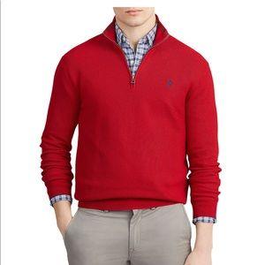 Red Polo Ralph Lauren Half-Zip Sweater